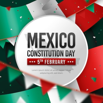 Realistic mexico constitution day