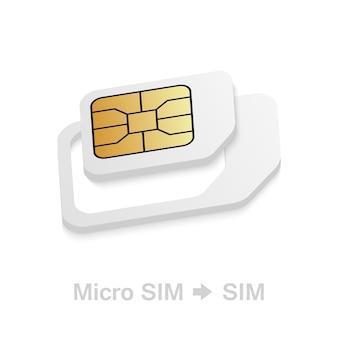 Реалистичный переходник для sim-карты с микро на стандартную