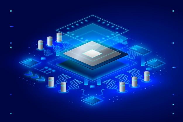 現実的なマイクロチッププロセッサの背景