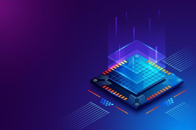 현실적인 마이크로 칩 프로세서 배경