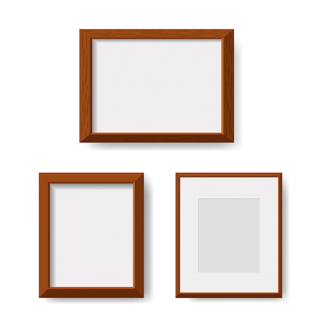 Realistic minimal isolated wood frame