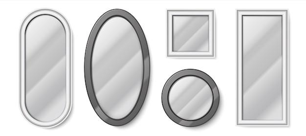 Realistic mirrors illustration