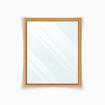 Realistic mirrors vector