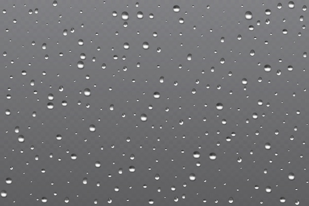 Реалистичные запотевшее стекло, дождевой пузырь водяного пара в окне. векторная иллюстрация