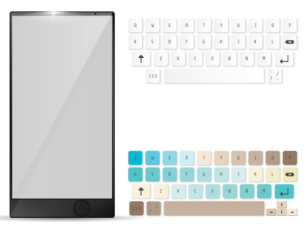 Realistic mobile and mobile keyboard