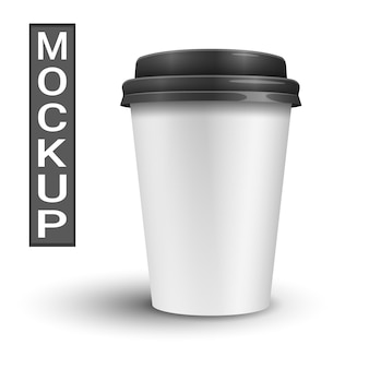 Realistic mockup of a coffee cup