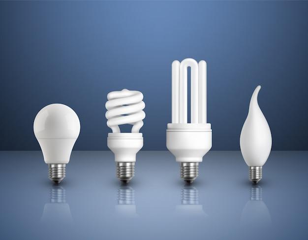 Реалистичная современная коллекция ламп