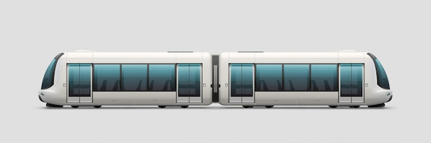Realistic modern electric train