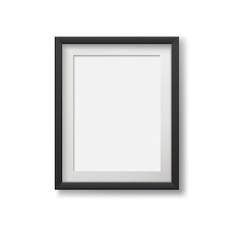 Реалистичная современная рамка для картин, изолированных на белом фоне.