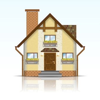 Realistic modern house