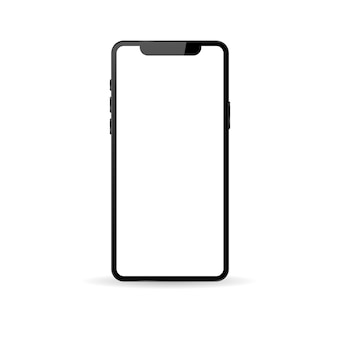 Realistic modern phone on a white background