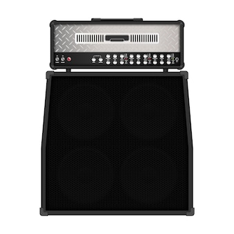 Realistic modern rock amplifier with cabinet speaker