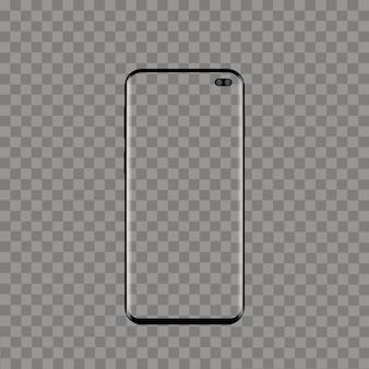 Realistic modern smart phone on transparent background. vector.
