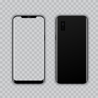 Realistic modern smart phone vector