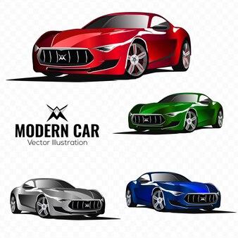 現実的な現代スポーツカーのベクトル図