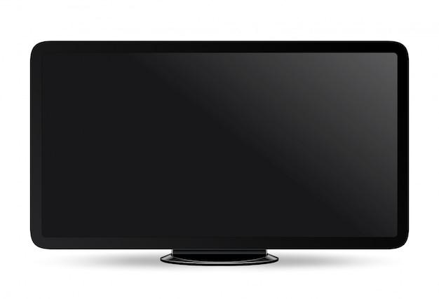Realistic modern widescreen monitor