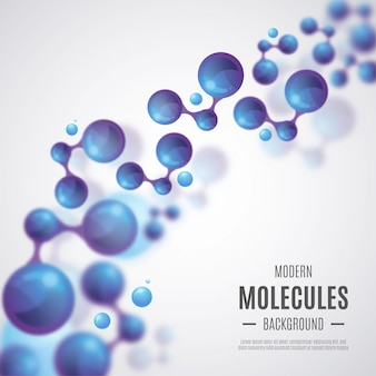 Realistic molecules background