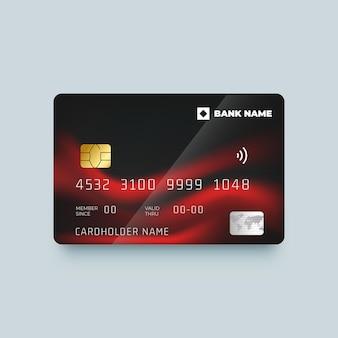 Реалистичная монохромная кредитная карта