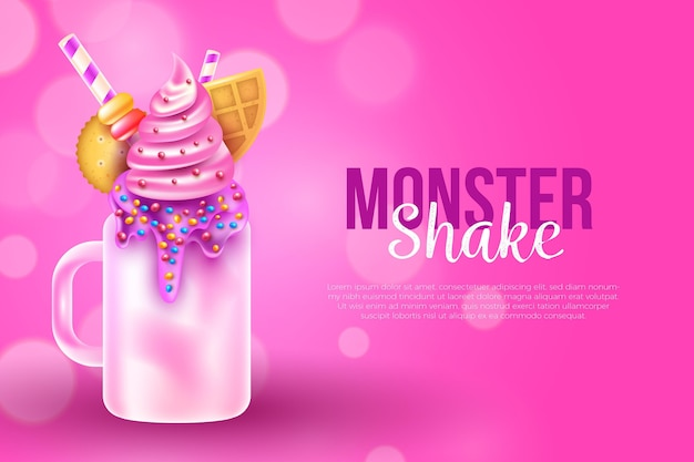 Realistic monster shake background