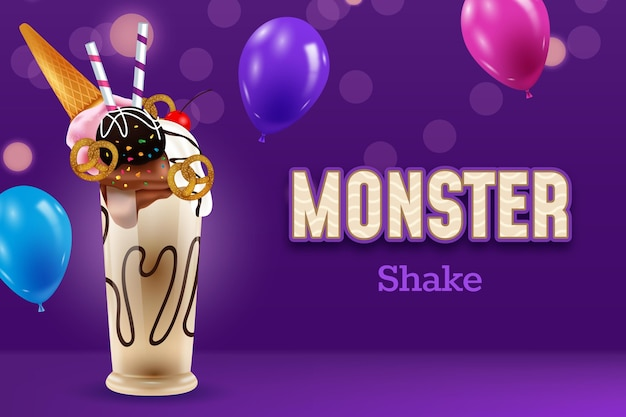 Realistic monster shake wallpaper