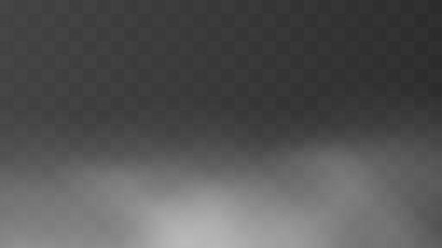 Realistic morning fog background