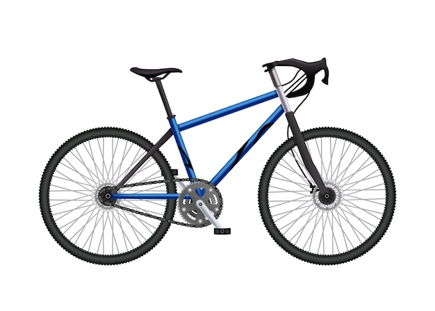 Realistic mountain bicycle illustration