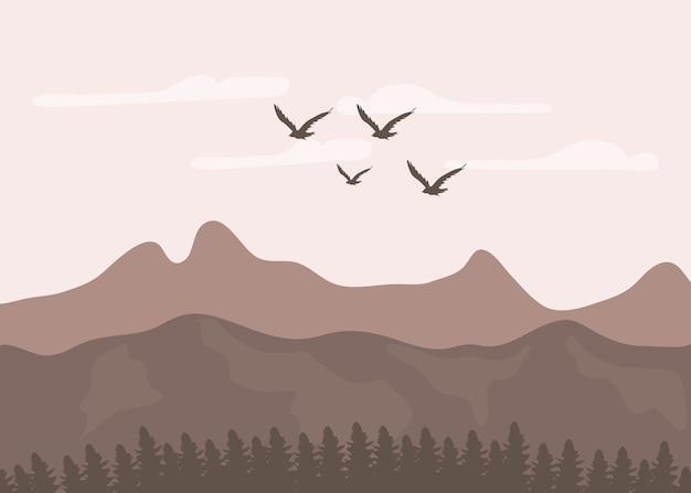 現実的な山の景色
