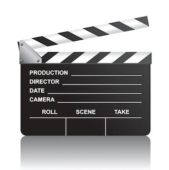 Realistic movie clapboard