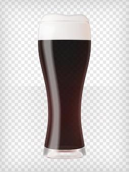 Realistic mug with beer
