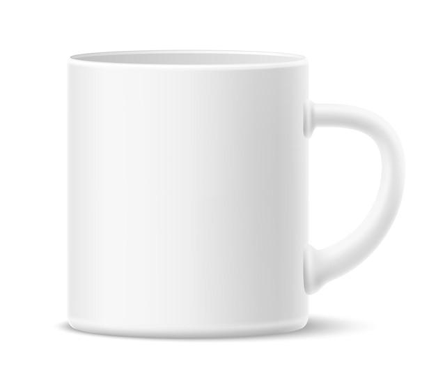 라벨 음료 컵이없는 현실적인 머그잔
