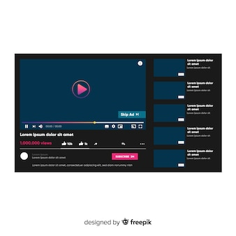 Realistic multimedia player template