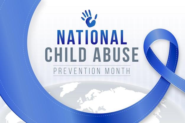 Реалистичная иллюстрация месяца предотвращения жестокого обращения с детьми
