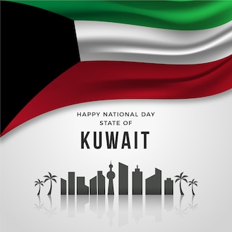 Realistic national day of kuwait