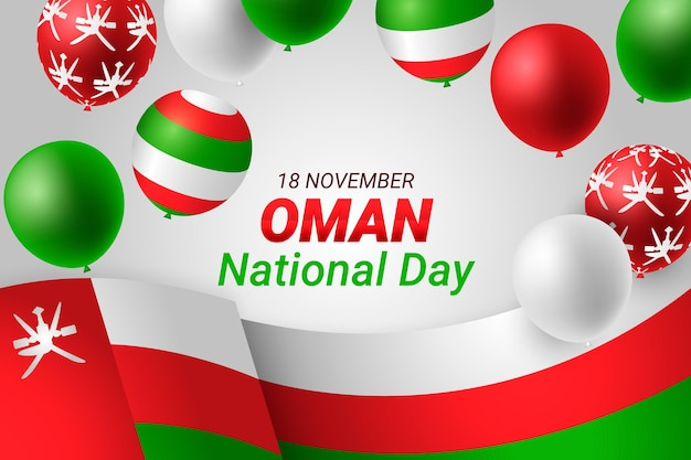 Realistic national day of oman background