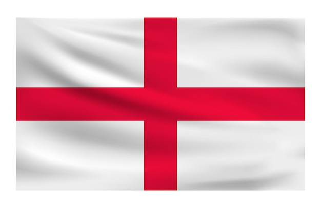Realistic national flag of england