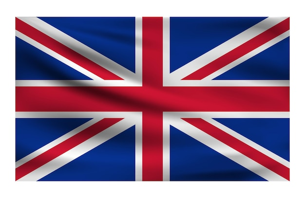 Realistic national flag of united kingdom