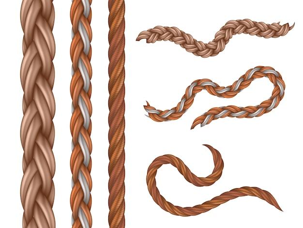 リアルな航海ケーブルとロープ