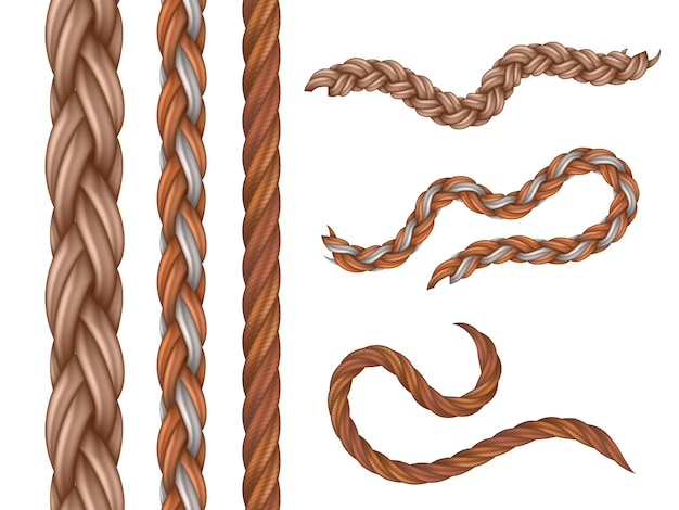 Realistic nautical cables and ropes