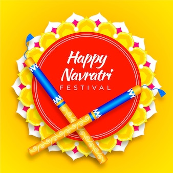 Realistic navratri traditional background