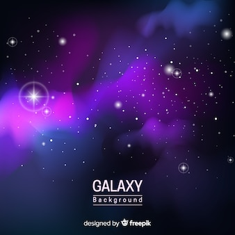 Realistic nebula background