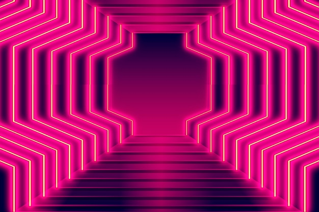 Sfondo di luci al neon realistico