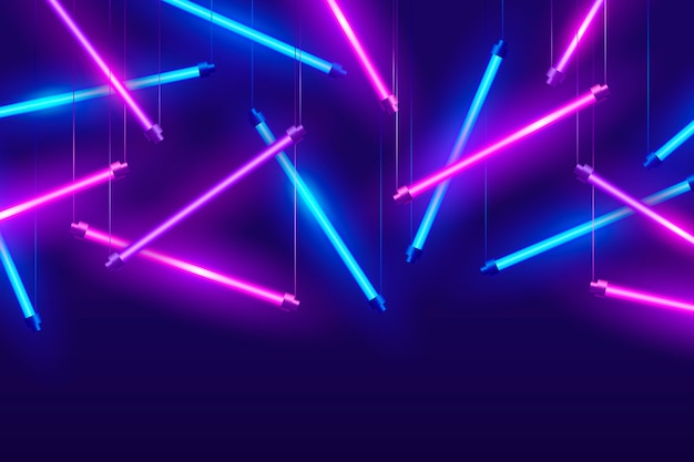 Realistic neon lights background