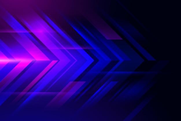 Реалистичная неоновая скорость движения фона
