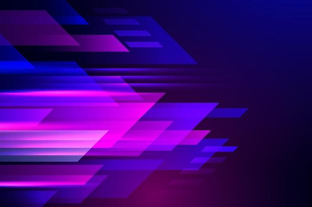 Реалистичная неоновая скорость движения фона Premium векторы
