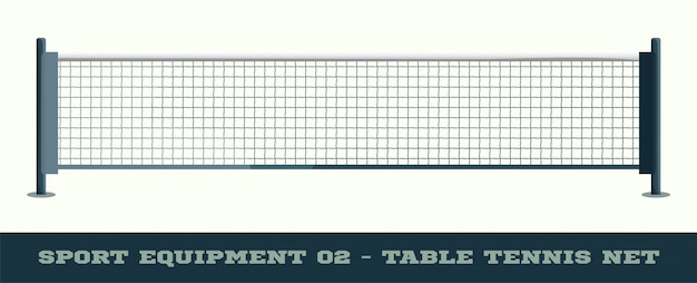 Realistic net for table tennis ping pong vector