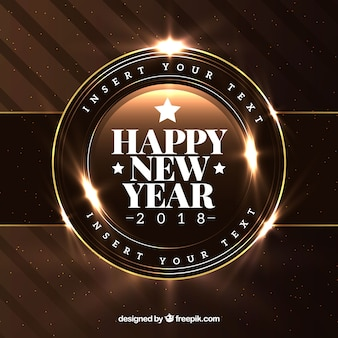 Realistic new year 2018 background in brown
