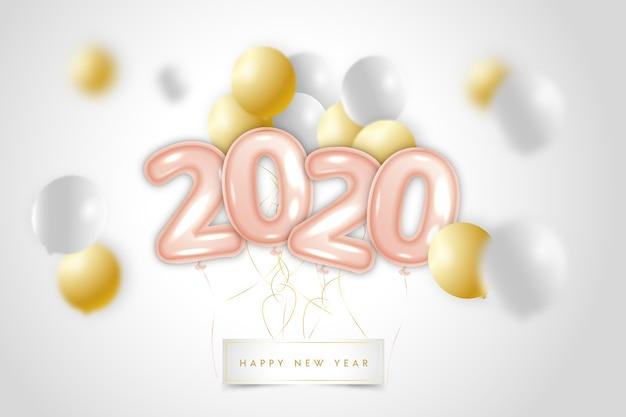 リアルな2020年の風船の背景