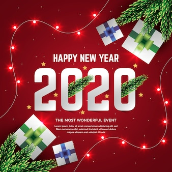 Realistic new year 2020