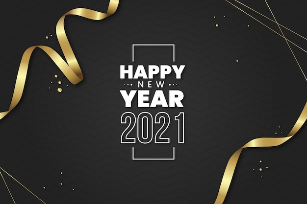 Realistic new year 2021 background