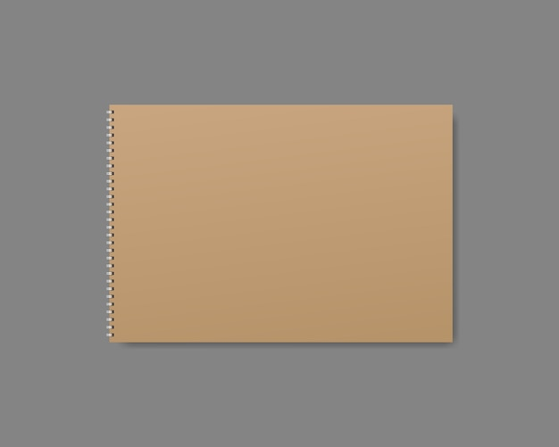 Realistic notebook, diary or book. blank notebook or diary cover template. realistic mockup
